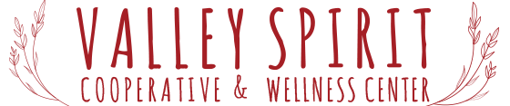 Valley Spirit Cooperative is the shared studio space of three unique businesses with a common goal: to contribute to community by offering services, teachings and products that support healing and growth, while enhancing awareness, communication, good health, peace and consciousness.